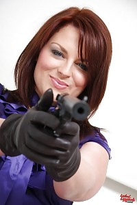 Danielle May Having Fun With Her Gun