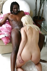Light-haired Erin Moore Got Her Carpet Plugged By A Big Black Dick After A Scene Of Oral Tease
